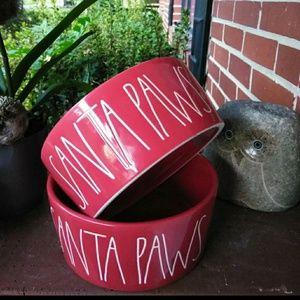 Rae dunn Christmas dog bowls